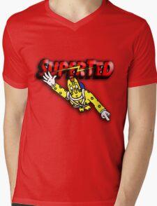 Super Ted Spotty Mens V-Neck T-Shirt