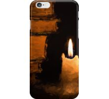 Three Lit White Candles and Old Books iPhone Case/Skin