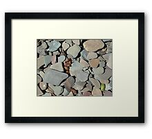 TWO MEDICINE LAKE BEACH PEBBLES - GLACIER NATIONAL PARK Framed Print