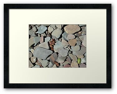 TWO MEDICINE LAKE BEACH PEBBLES - GLACIER NATIONAL PARK by May Lattanzio