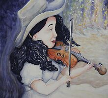 Woman's Autumnal Twilight Serenade by Dawna Morton