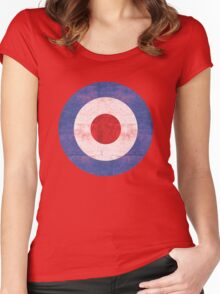 Mod Target Women's Fitted Scoop T-Shirt