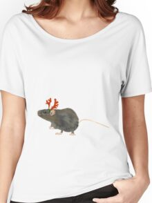 Christmas Rat by Anne Winkler Women's Relaxed Fit T-Shirt
