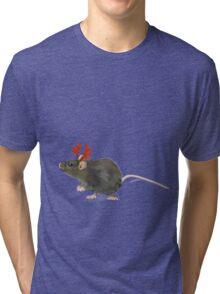 Christmas Rat by Anne Winkler Tri-blend T-Shirt