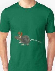 Christmas Rat by Anne Winkler Unisex T-Shirt