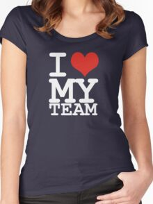 I love my team Women's Fitted Scoop T-Shirt