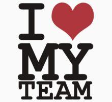 I love my team Kids Tee