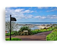 A View From The Gardens ~ Lyme Regis Canvas Print