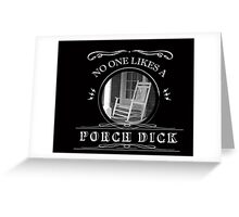 Porch Dick, Walking Dead Greeting Card
