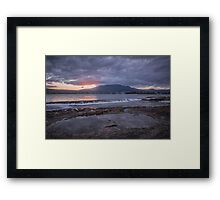 Rockpool Sunset Over Hobart Framed Print