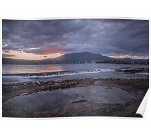 Rockpool Sunset Over Hobart Poster