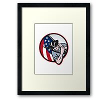 American Patriot Minuteman With Flag Framed Print