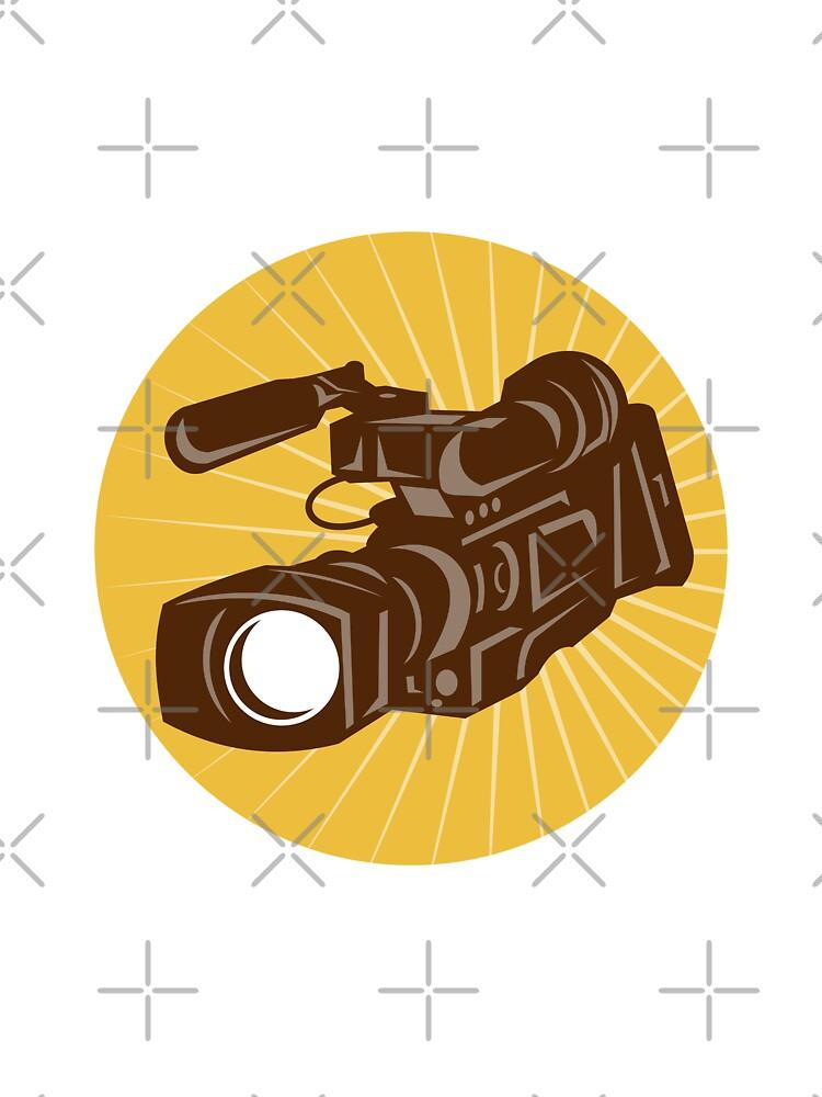 Professional Video Camera Camcorder Retro by patrimonio