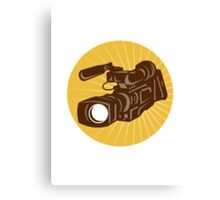 Professional Video Camera Camcorder Retro Canvas Print