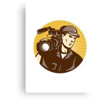 Cameraman Film Crew Pro Video Movie Camera Canvas Print