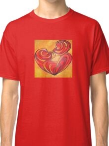 Lovers Kiss And Their Bodies Form A Love Heart Classic T-Shirt