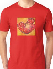 Lovers Kiss And Their Bodies Form A Love Heart Unisex T-Shirt
