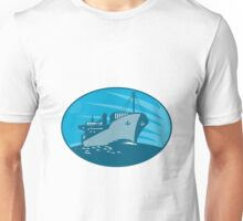 Container Cargo Freighter Ship Retro Unisex T-Shirt
