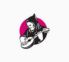 Hooded Man Playing Banjo Guitar Unisex T-Shirt
