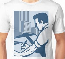 Architect Draftsman Drawing Buildings Retro Unisex T-Shirt