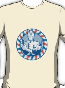 Barber With Clipper Hair Cutter and Scissors T-Shirt