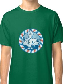 Barber With Clipper Hair Cutter and Scissors Classic T-Shirt