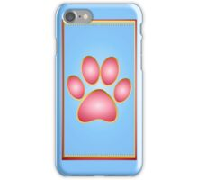 Pink 'n' Gold Kitty Paw iPhone Case/Skin