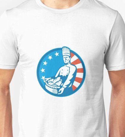 American Chef Baker Cook With Basket Loaf Bread Unisex T-Shirt