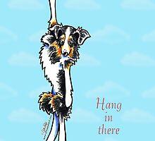 Australian Shepherd Hang in There Encouragement Card by offleashart