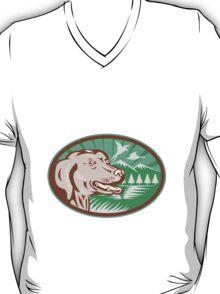 Labrador Retriever Hunting Dog Retro T-Shirt
