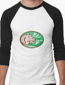 Labrador Retriever Hunting Dog Retro Men's Baseball ¾ T-Shirt