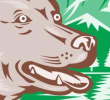 Labrador Retriever Hunting Dog Retro Sticker