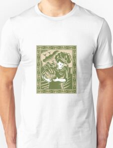 Organic Farmer With Basket Harvest Crops Retro T-Shirt