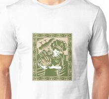 Organic Farmer With Basket Harvest Crops Retro Unisex T-Shirt