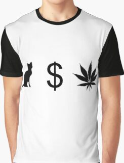 Pussy Money Weed Graphic T-Shirt