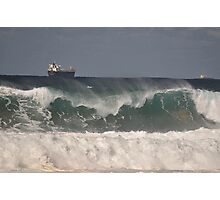 Waves & Ships, Werrong Beach, Australia 2014 Photographic Print
