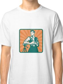 Photographer With DSLR Camera and Video Retro Classic T-Shirt
