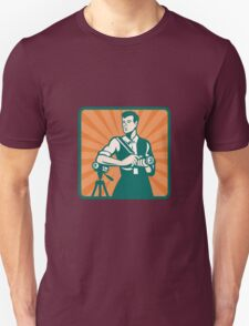 Photographer With DSLR Camera and Video Retro T-Shirt