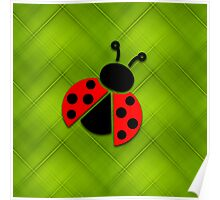Ladybug on green background Poster