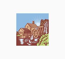 Water Wheel Mill House Retro Unisex T-Shirt