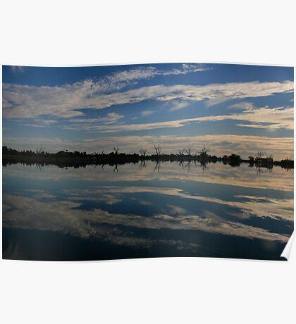 Reflections,Lake Bonney,Barmera,S.A. Poster