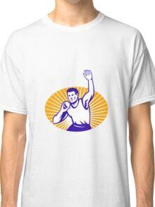 Athlete Shot Put Throw Retro Classic T-Shirt