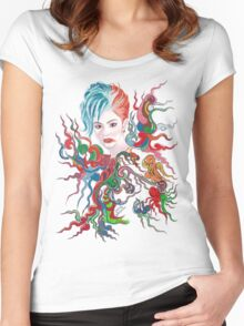 WayNine Four Women's Fitted Scoop T-Shirt