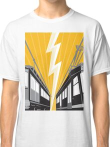 Vintage and Modern Streetcar Tram Train Classic T-Shirt