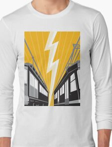 Vintage and Modern Streetcar Tram Train Long Sleeve T-Shirt