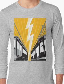 Vintage and Modern Streetcar Tram Train Long Sleeve T-Shirt