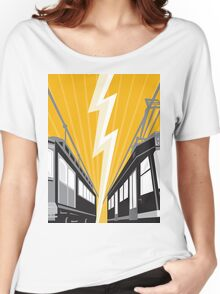 Vintage and Modern Streetcar Tram Train Women's Relaxed Fit T-Shirt