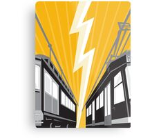 Vintage and Modern Streetcar Tram Train Metal Print