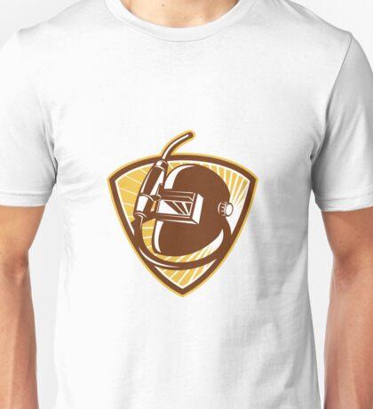 Welder Visor And Welding Torch Retro Shield Unisex T-Shirt