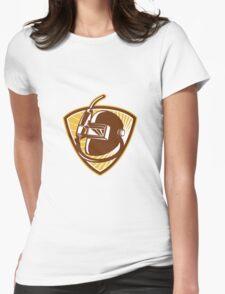 Welder Visor And Welding Torch Retro Shield Womens Fitted T-Shirt